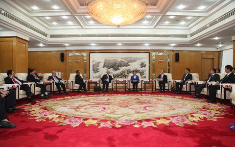 中国统促会副会长苏辉会见欧洲各国统促会联合访问团